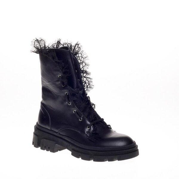 Black Boot With Lace