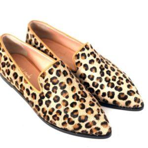 Loafer Pony Animal Print Shoes